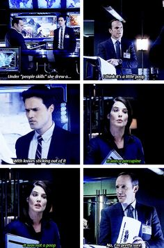 That time he simulatneously told Maria Hill she was shit at Pictionary while telling Ward he needs better people skills. | 15 Times Coulson's Superpower Was Sass