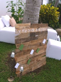 Notes  to the bride and groom