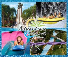 Adventure Island's 30 acres provide water soaked excitement for guests of all ages. Escape to the soothing key west atmosphere wher slides, waterfalls and create a tranquil atmosphere and house of sun-drenched fun. Located Next door to Busch Gardens and only 9 miles away from Downtown Tampa!