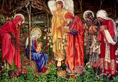 Adoration of the Magi by Burne Jones: edited by Jessika