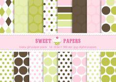 Baby Girl Digital Paper Pack