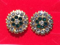 Indian Bollywood style Gold plated vintage CZ stud party ware earrings ATGO2 #lakimanu #Stud