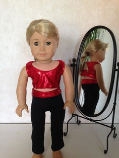 18 Inch American Girl Doll Clothes Shiny Red Yoga by TCsTreasures, $12.00
