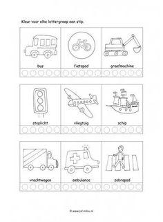 Werkblad verkeer - Lettergrepen