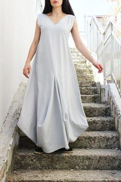 Grey Linen Dress/Maxi Linen Dress/ Boho Dress/ Linen от Fraktura