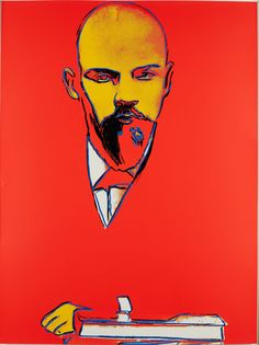 Andy Warhol, Red Lenin, 1987