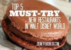 Several exciting new dining options at Disney World!