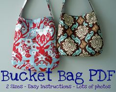 Bucket Bag PDF Pattern, Emailed Instruction and Pattern. $8.00, via Etsy.
