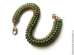 """Купить Браслет """"Шервудский лес"""". Кольчужное плетение - кольчужное плетение, кольчужный браслет, кольчужные украшения"""