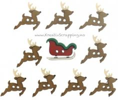 Sew Cute Christmas Sleigh and Reindeer Novelty Buttons Dress It Up Theme Pack Christmas Themes, Holiday Crafts, Christmas Decorations, Christmas Tablescapes, Amigurumi Animals, Christmas Buttons, Reindeer Christmas, Crochet Christmas, Christmas Stockings