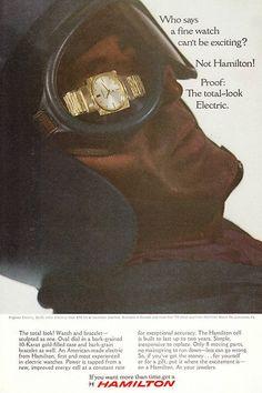 1966 Pegasus Electric Hamilton watch photo print ad