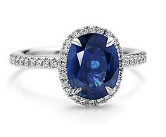 So beautiful! My Mum's ring is a sapphire, and I'd take one over a diamond any day.
