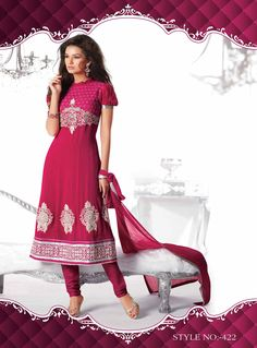 PINK PURE GEORGETTE SALWAR KAMEEZ WITH EMBROIDERY  Rs. 3744.00 @ArtistryC: Online Multi- Brands Retail Shop: Best Buy: Best Deal