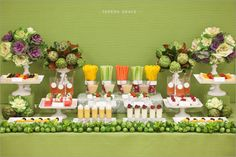 Wedding Receptions Foods Displays | Blog Sighting! {adorable} Cocktail Hour Veggie Display | Venue Safari