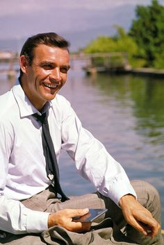 Sean Connery on the set of Doctor No