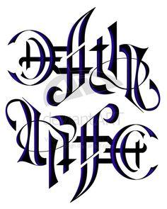 Life & Death ambigram tattoo design