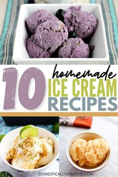 Delicious ice cream recipes that you can make from scratch! #domesticallycreative #icecreamrecipe #homemade #easyrecipe #summerrecipe Homemade Popsicles, Homemade Desserts, Frozen Desserts, Healthy Dessert Recipes, Homemade Cakes, Delicious Desserts, Frozen Treats, Easy Recipes, Ice Cream Flavors