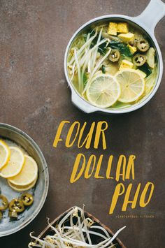 This version of pho is quick to bring together, meatless but very flavorful, and, as the title suggests, is very cheap to make. This ...