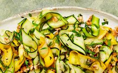 Yotam Ottolenghi's courgette, thyme and walnut salad.