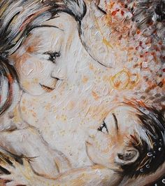 mother and child breastfeeding night art print - A Light In The Dark - archival signed 8x10 motherhood print