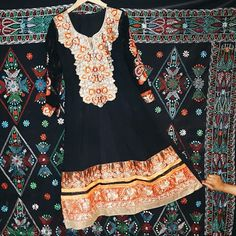 Black and Red Gorgeous Eid Party Salwar Kameez Include pants and scarf, beautiful dress and it is perfect for Eid!! Size: 40-43 L-XL  Beautiful flower indian Bangladeshi pakistani salwar kameez dress Dresses Long Sleeve