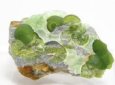 Green Wavellite Botryoidal Crystals on Chert by FenderMinerals,