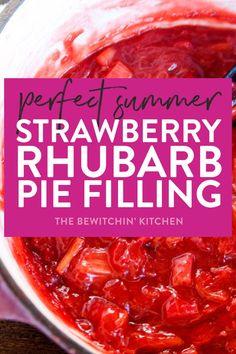Food Photography: The BEST Summer Strawberry Rhubarb Pie Filling Recipe Strawberry Rhubarb Pie Filling Recipe, Strawberry Recipes, Strawberry Rubarb Pie, Strawberry Rhubarb Crisp, Strawberry Summer, Pavlova, Rhubarb Desserts, Rhubarb Dishes, Easy Rhubarb Recipes