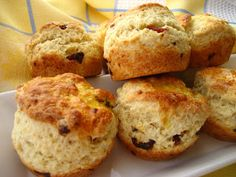 Home Cooking In Montana: Cherry Almond Scottish Scones...Made in a Muffin Tin!