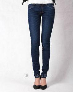 Hằng Jeans - quần jeans nữ xanh mài đậm tôn dáng 182-2. Giá: 399.000đ