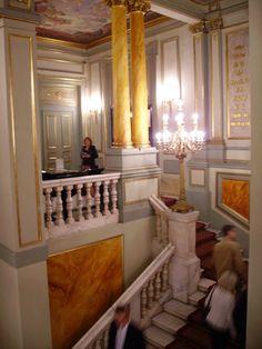 Grand stairs of Barcelona- based Opera House (Liceu)