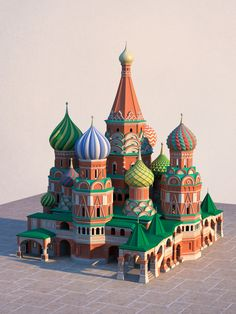 Saint Basil's Cathedral on Behance