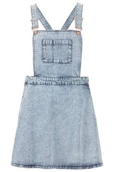 MOTO Acid Denim Pini Dress - Denim  - Clothing