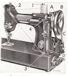"""Singer """"Featherweight"""" Sewing Machines       Further down the page there are instructions for maintaining your """"Featherweight"""" machine..."""