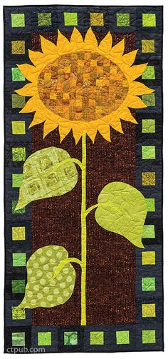 Brighten up your home for fall with 21 engaging piecing and applique projects, from tea towels and place mats to lap quilts and table runners. Sew spooky spiders, dancing turkeys, autumn leaves, and much more! Applique Wall Hanging, Quilted Wall Hangings, Wall Hanging Quilts, Door Hangings, Summer Quilts, Fall Quilts, Sunflower Quilts, Sunflower Leaves, Painted Barn Quilts