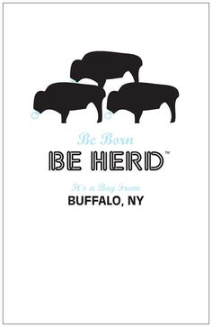 1 Be Herd Buffalo Its A Boy Card by puffycatcreative on Etsy, $4.00