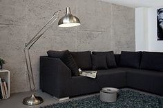 DuNord Design XXL Stehleuchte DESK 180 cm (nickel)