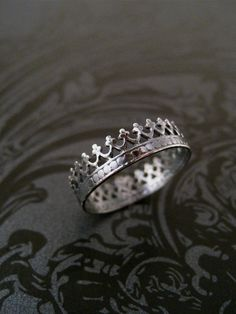 Princess Crown Ring - give to daughter for 16th birthday from Daddy! by KayaSattvaJewelry on Etsy, $25.00