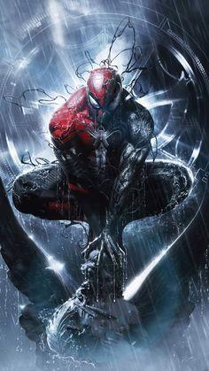 Black Spiderman, Spiderman Art, Amazing Spiderman, Spiderman Symbiote, Marvel Comics Art, Marvel Heroes, Thanos Avengers, Spiderman Pictures, Handy Wallpaper