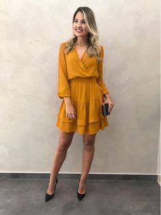 Women Casual Dress Feather Dress Dresses To Wear To A Wedding – feather dress Elegant Dresses, Cute Dresses, Casual Dresses, Short Dresses, Casual Outfits, Summer Dresses, Cute Yellow Dresses, Romantic Dresses, Fall Dresses