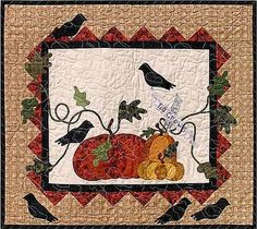 P3 Designs: Shop   Category: Patterns   Product: No Crows Wall Hanging
