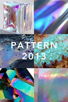 Iridescent spectrum sheen and galvanized finishes were big across all the of the major 2013 art fairs. Our friends at @PATTERNITWEET seem to...