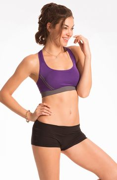 d9692924cf Prettysecrets Showtime Work Out Purple Daisy Sports Bra Price  Rs. 549  Nightwear Online