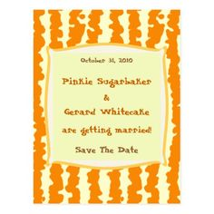 Pumpkin Goo Save the Date Postcard
