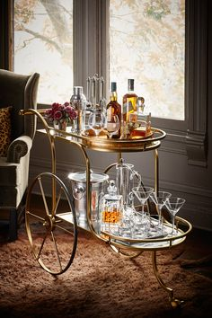 Ken Fulk X. Pottery Barn - ADMIRAL BAR CART