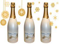 Bouteille de champagne speciale pour les fetes. Une belle bouteille sur votre table de réveillon ou une belle idée cadeau
