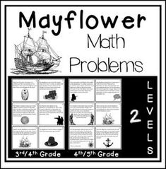 """FREE MATH LESSON - """"Mayflower Math Problems"""" - Go to The Best of Teacher Entrepreneurs for this and hundreds of free lessons. 3rd - 5th Grade    #FreeLesson #Math #Thanksgiving http://www.thebestofteacherentrepreneurs.net/2016/10/free-math-lesson-mayflower-math-problems.html"""