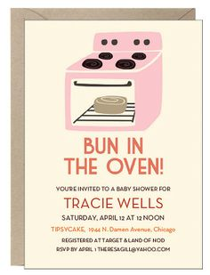Baby Shower Themes, Shower Ideas, Bun In The Oven, Baby Shower Invitations, Invites, Beautiful Baby Shower, Baby Boom, Paper Source, Maybe One Day