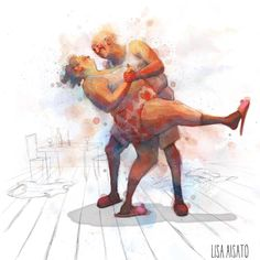 Lisa Aisato Plus Size Art, Poses Photo, Shall We Dance, Old Postcards, Funny Art, Lisa, Cat Art, Tango, Illustrators