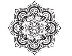 Dibujo de un Mandala flor oriental para pintar, colorear o imprimir. Colorea online con dibujos.net y podrás compartir y crear tu propia galería de dibujos pintados de Mandalas.
