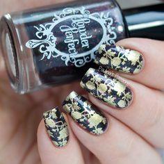 B. Loves Plates Flower Power stamping nail art
